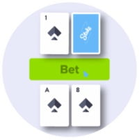 Stake.com review - Blackjack - place bet