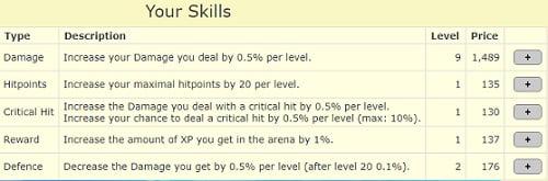 ClickFight Review - upgrade skills