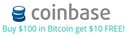 Coinbase - Buy $100 of Bitcoins and get $10 of Bitcoins Free!