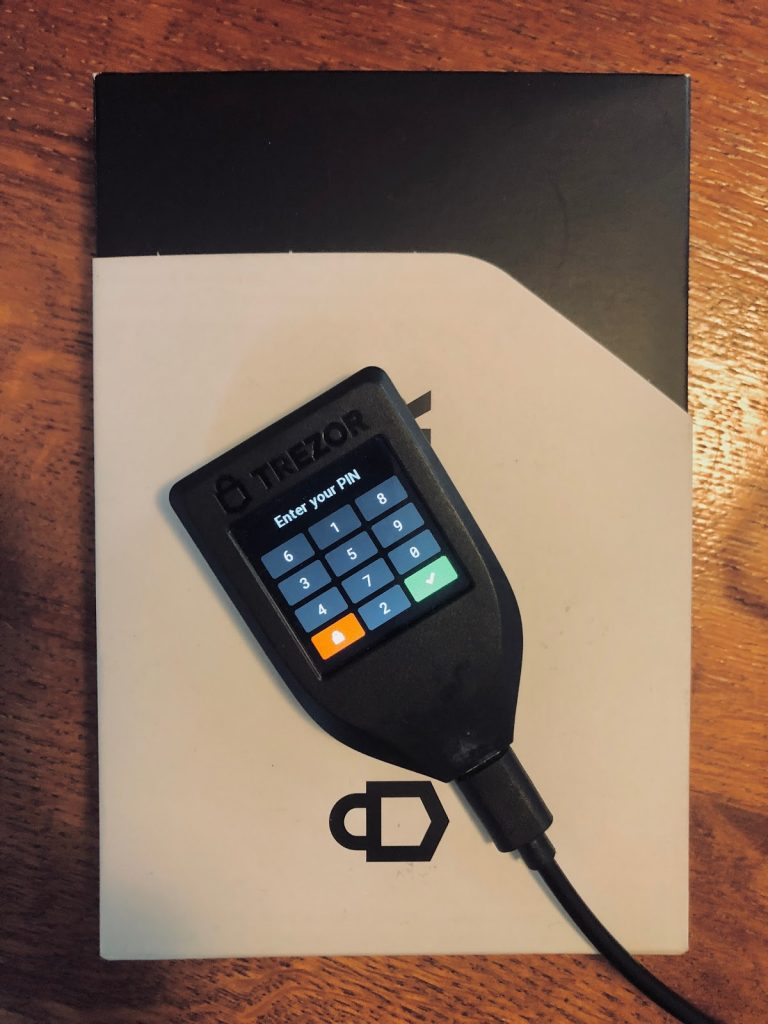 Trezor Model T - smooth design, smooth operation