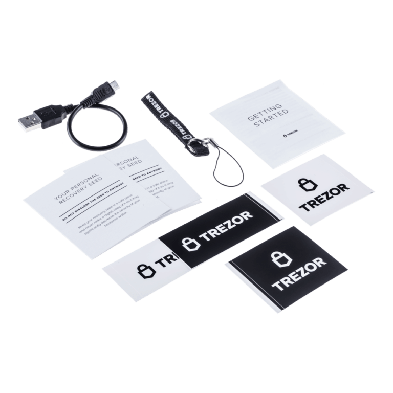 Trezor One contains everything you need