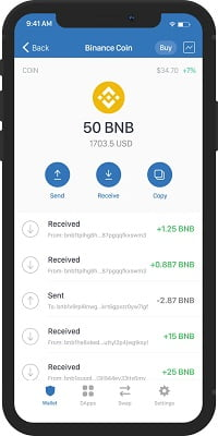 Binance review - Trust Wallet